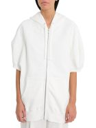 Sonia Rykiel Short Sleeve Hoodie With Contrasting Print To The Rear - Bianco