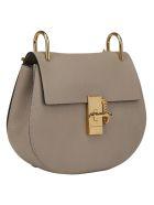 Chloé Drew Shoulder Bag - Motty grey