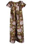 Rochas Floral Print Long Dress - Medium Brown
