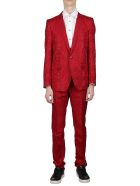 Dolce & Gabbana Baroque Motif Suit - Red
