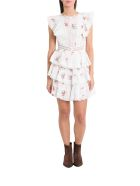 Zimmermann Floral Print Dress With Flounces - Bianco