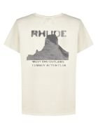 Rhude Gun Club T-shirt - Beige nero