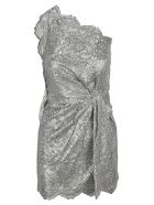 Dsquared2 D Squared Metallic Lace Morgana Dress - SILVER