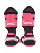 Prada Prada High Knit Sandals - PINK