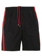 Alexander McQueen Side Stripe Shorts - Black/red
