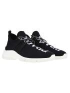 Prada Knit Sneakers - BLACK WHITE