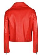 S.W.O.R.D 6.6.44 Classic Zipped Biker Jacket - Cherry