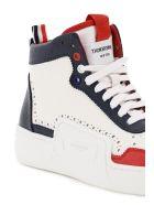 Thom Browne Basketball Hi-top Tricolour Sneakers - RWB WHT (White)