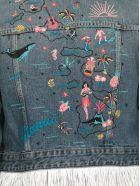 Alanui Hawaiian Cropped Jeans Jacket - HONOLULU WAS