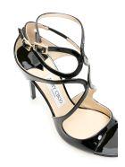 Jimmy Choo Patent Lang Sandals - BLACK (Black)