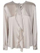Fabiana Filippi Wrap Style Blouse - Grey