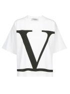 Valentino V Logo T-shirt - Bianco/nero