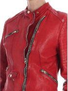 Delan Leather Jacket - RED