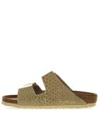 Birkenstock Arizona Gold Sandals In Birko Flor Fabric - Gold