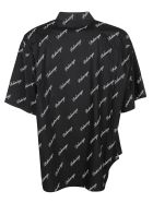 Balenciaga Signature Logo Print Shirt - Nero