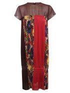 Zucca Flower Pleats Dress - Fantasy red