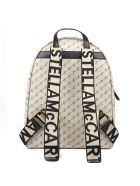 Stella McCartney Sand Canvas Backpack With Logo Stella All Over - Sand