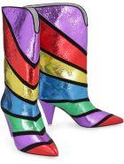 The Attico Betta Leather Boots - Multicolor