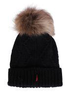 Woolrich Black Wool Beanie Hat - Nero