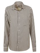 Ami Alexandre Mattiussi Striped Shirt - Ecru/Black