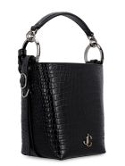 Jimmy Choo Varenne Leather Bucket Bag - black