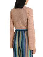 M Missoni Lurex Knit Short Cardigan - Pink