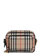 Burberry Check Canvas Camera Bag - Beige