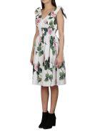 Dolce & Gabbana Floral Midi Dress - White