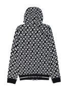 Givenchy Black Cotton Blend Hoodie - Nero+bianco