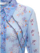 Chloé Floral Silk Shirt - Light blue