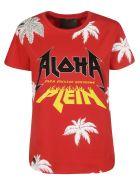 Philipp Plein Aloha Embroidered T-shirt - Red