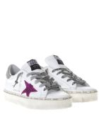 Golden Goose White Superstar Leather Sneakers - White/silver