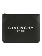 Givenchy Logo Zipped Clutch - Black