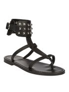K.Jacques K. Jacques Studded Ankle Sandals - Black