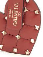 Valentino Garavani 'rockstud Spike Heart' Keyring - Red