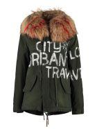 Mr & Mrs Italy Jazzy Fur Hood Short Parka - green