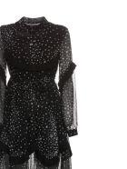 Jovonna Dress - Nero bianco