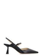 Jimmy Choo Ray Leather Pointy-toe Slingback - black
