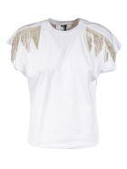MSGM Embellished Detail T-shirt - White