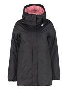 K-Way Sophie Hooded Puffer Jacket - black