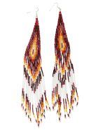 Jessie Western Long Beaded Earring - Multicolor/red