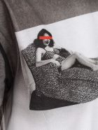 N.21 T-shirt W/tulle And Print - Stampa Fondo Bianco