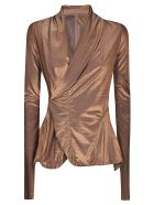 Rick Owens Lilies Lilies Wrap Fitted Jacket - Tangerine