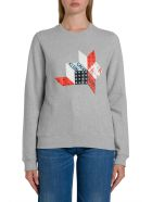Calvin Klein Jeans Patchwork Print Sweatshirt - Grigio