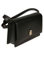 Furla Flap Front Classic Shoulder Bag - Black