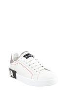 Dolce & Gabbana Calfskin Nappa Portofino Sneakers - White