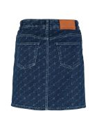 Stella McCartney Printed Denim Mini Skirt - Denim