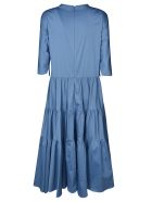 Max Mara The Cube Neck Embellished Long Dress - Light Blue
