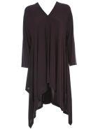 Issey Miyake Short Tunic Dress L/s V Neck - Charcoal Grey