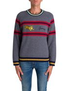 Kenzo Maglione A Righe Jumping Tiger - Blu
